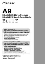 Pioneer SX-A9MK2-K Receiver Owners Manual