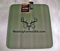 Guidesman Soft Foam Seat Cushion Green 14x13x1.5 Camping Bleachers Hunting Rf