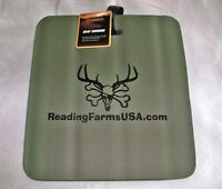 Guidesman Soft Foam Seat Cushion Green 14x13x1.5 Camping Bleachers Hunting Rf
