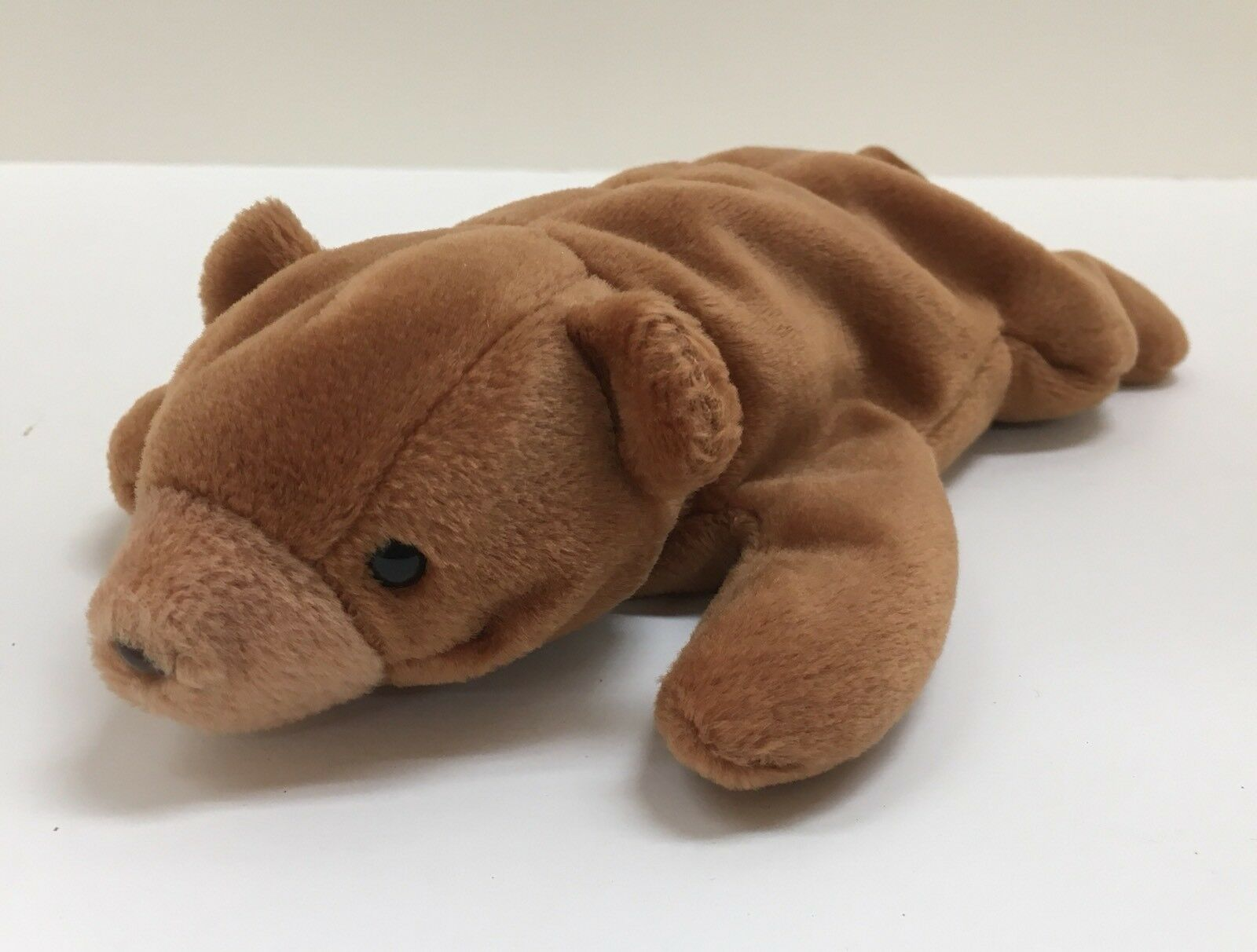 """Ty Beanie Babies """"Cubby"""" Brown Bear 1st Generation"""
