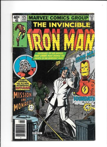 3rd Appearance of Ant-Man 4.0 Iron Man #125Very Good Scott Lang