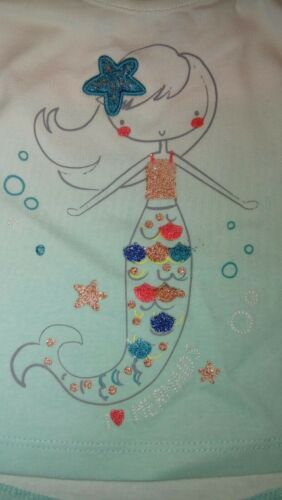 New F/&F Baby Girl Glittery Mermaid T-shirt age 9-12 months 80cm