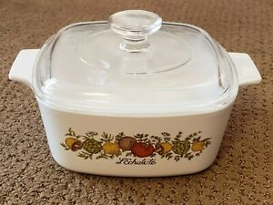 Corning Ware Spice of Life L'Echalote 1.5 Liter A-1.5-B w/Lid Pyrex A70