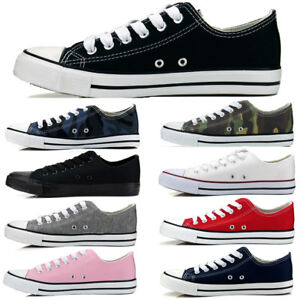New-All-Star-Size-Womens-Shoes-Low-Top-Canvas-Suede-Sneakers-Unisex-Multi-Colors