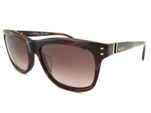 Valentino Damen Sonnenbrille Gestreift Bordeaux mit Gold V/' Tempel V653s 620