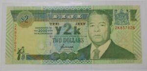 2000-Fiji-2-034-Commemorative-034-GEM-UNC-P-102a-Millenium-Year-2K