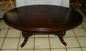 Image Is Loading Oval Cherry Coffee Table By Thomasville CT44