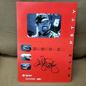 1998-Kyle-Petty-Signed-Sprint-45-8-5x12-Schedule-Oversized-Post-Card-NASCAR