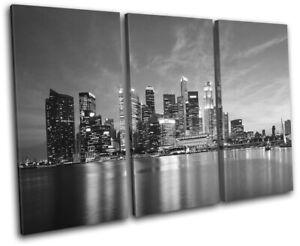 Singapore-Asia-Skyline-Skyscraper-City-TREBLE-CANVAS-WALL-ART-Picture-Print