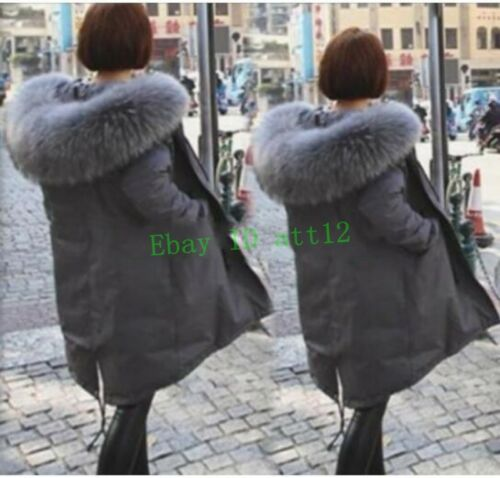 Big Warm Casual Winter Coat Loose Parka Collar Fur Jacket Korean Outwear Kvinders Oc4rOqgWz