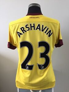 buy popular 9d136 fe4d7 Details about ARSHAVIN #23 Arsenal Away Football Shirt Jersey 2010/11 (M)