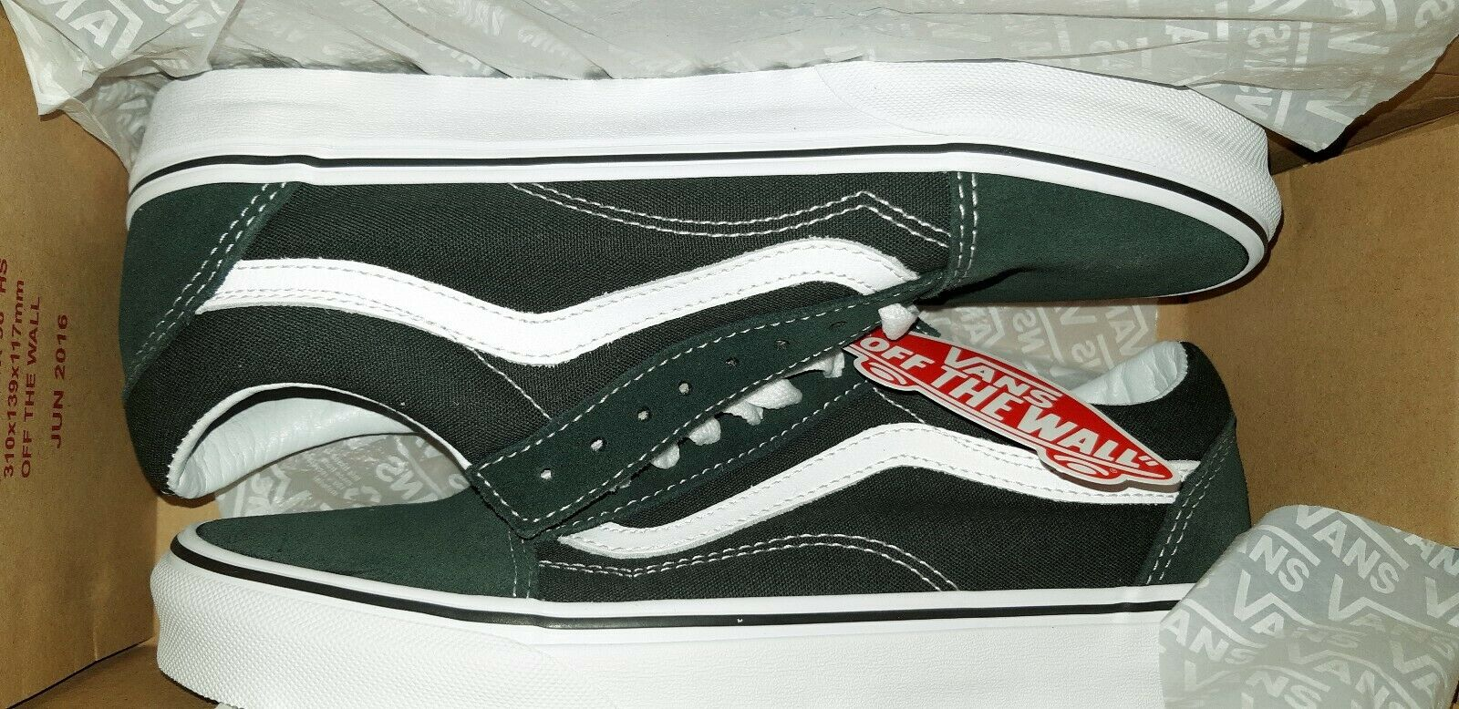 Vans Old Skool Scarab true White VN0A38G1QSU Green Men's Size Size Size 8.5 wmn 10 be8d6f