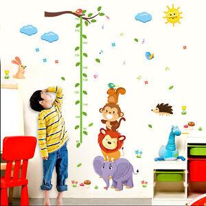Sticker Für Kinderzimmer | Xxl Wandtattoo Kinder Messlatte Sticker Kinderzimmer Afrika Tiere