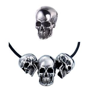 Boutique en ligne 770d5 c05b2 Detalles de 316L Acero Inox. Colgante Collar Calavera Cráneo Plata Motero  Hombre