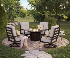 Ashley Furniture Castle Island 5 Piece Outdoor Patio Set P414 Ebay