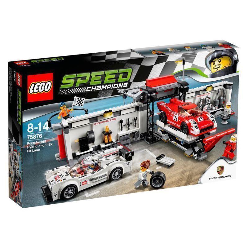 Lego 75876 Porsche 919 Hybrid and 917K Pit  Lane  site officiel