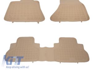 5987222 X6 F16 14 Tappetino//Floor Mat Beige Gomma Set 4 Pezzi BMW X5 F15 13