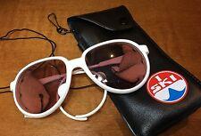 Vtg Ray Ban Bausch & Lomb White G15 Arctic Glacier Cats Sunglasses I Ski Case