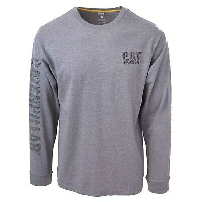Caterpillar Men's Patterned Trademark Banner L/S T-Shirt S05