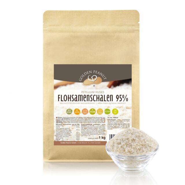 Flohsamenschalen 1kg indische 95% Reinheit Ballaststoffe