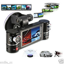 "F600 2.7"" Dual Lens Car Camera Vehicle DVR Dash Cam Video Recorder 180 Degree"