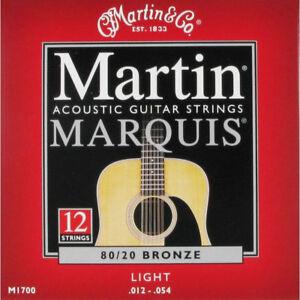 Muta-corde-chitarra-acustica-12-corde-Martin-Marquis-M1700-Bronze-Light-012-054