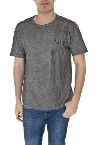 T Sweat Aj Shirt T6h14sl Armani Coton Gris Jeans Hommes 92 T shirt rrp7U
