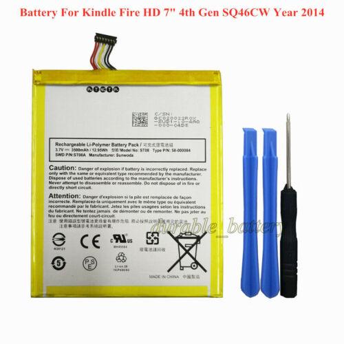 "Genuine Battery 58-000084 ST08 Amazon Kindle Fire HD 7/"" 4th Gen SQ46CW MC-347993"