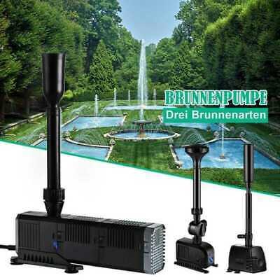 800-3000 L//S Springbrunnenpumpe Teichpumpe Teich Fontäne Wasserpumpe Gartenpumpe