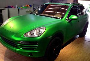 2-5M-x-1-52M-Matte-Metallic-Green-Satin-Vinyl-Car-Wrap-Air-Release-Squeegee
