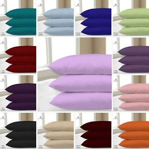 PILLOW-CASE-2-x-LUXURY-CASE-POLY-COTTON-HOUSEWIFE-PAIR-PACK-BEDROOM-PILLOW-COVER