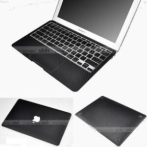 Black carbon fiber trackpad skins for macbook air