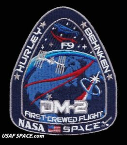 Authentic-NASA-Mission-SpaceX-Dragon-DM-2-Space-Flight-Patch-Launch-May-27-2020