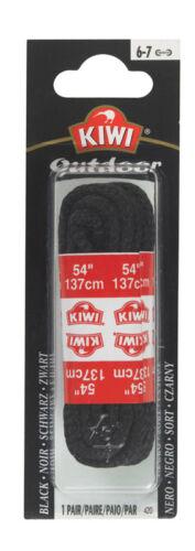 Black 1.6 Ounce Kiwi Outdoor Round Laces