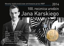 2 zl blister coins Munzen Jan Karski