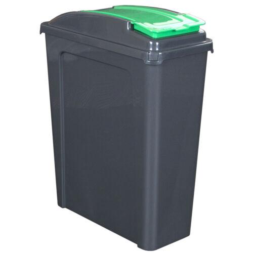 Mülleimer 50//25L Abfalleimer Deckel Eimer Papierkorb Abfallsammler Recycling