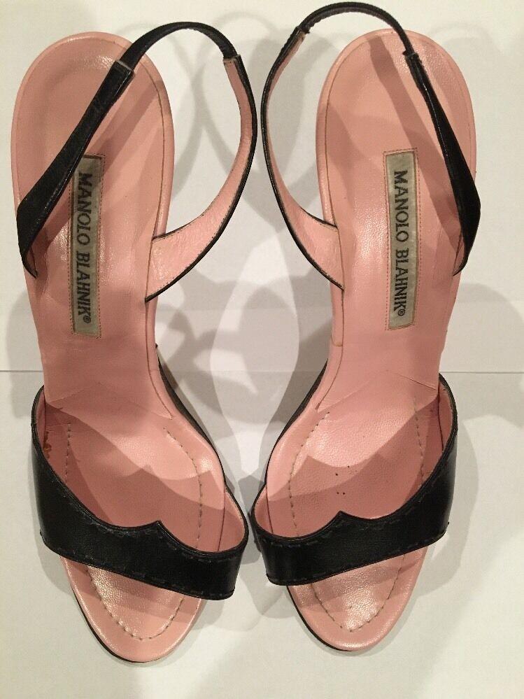 Manolo Blahnik Sling back High Heel Sandal 38.5
