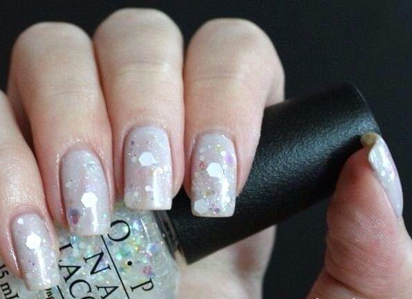 Opi Gwen Snow Globetrotter White Glitter Fleck Nail Polish Lacquer F16 New