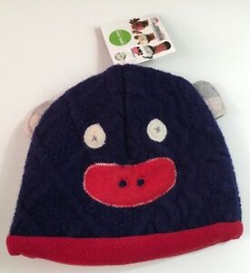 CATE AND LEVI Toddler Child Monkey Winter Hat Fits 0-1 Years 17