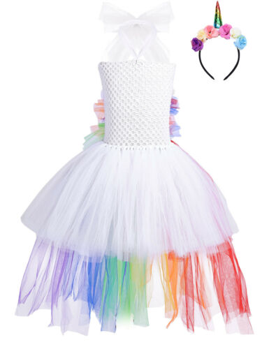 Child Girl Princess Fancy Dress Party Halloween Cosplay Costume Book Week Outfit