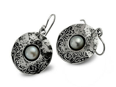 E02064SP SHABLOOL ISRAEL Didae Handcrafted FW Pearl Sterling Silver 925 Earrings