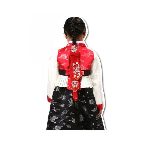 Korean traditional Dress DAENGGI 2 Hanbok hairband PIGTAIL RIBBON kids Red 1ea