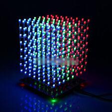 NEW 3D LightSquared 8x8x8 LED Cube White LED Red Green Blue Ray DIY Kit