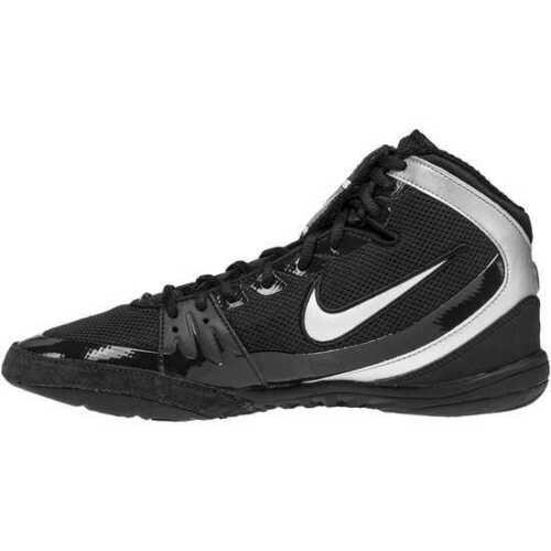 NIKE FREEK Wrestling Shoes Ringerschuhe Boxing MMA Black/Silver 002