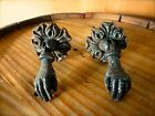 1 PAIR BLACK HANGING HANDS ANTIQUE-STYLE CABINET PULL HANDLE KNOB vintage chic