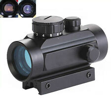 Hunting 1/4 MOA 1X40RD Red Green Dot Rifle Scope Telescope Optical Sight 11/20mm