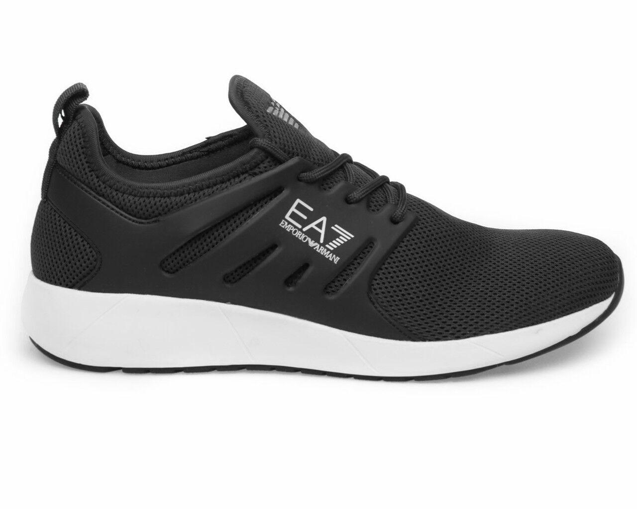 Emporio Arhommei paniers Minimal FonctionneHommest U EA7 paniers Homme Noir Chaussures De Sport