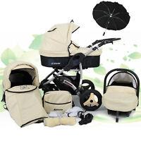 Baby Travel System + Swivel Wheels, Pram - Pushchair - Car Seat - Umbrella