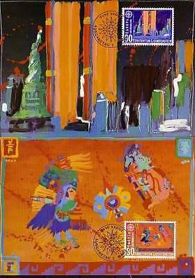 europa:15496 Gewissenhaft Liechtenstein Mk 106 Michelnummer 1033-1034 StäRkung Von Sehnen Und Knochen