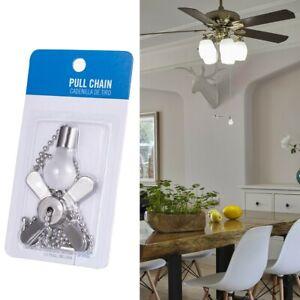 Light-Bulb-amp-Ceiling-Fan-Ceiling-Light-Pull-Chain-Silver